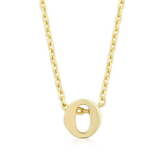 Alexia 14k Gold Pendant O Initial Necklace Initial Necklace