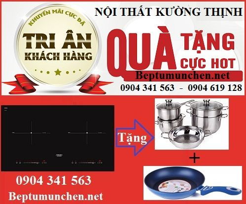 Khuyến mại mới nhất cho bếp từ Munchen M50 new 2017
