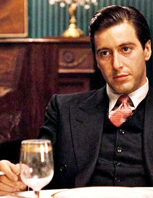 "Al Pacino as Michael Corleone. ""Fredo don't ever take sides with anyone against the family,again...ever."