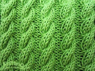 Corded Cable Rib Stitch Knitting Stitch Patterns Knitting
