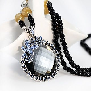 Buy Goldmill Jeweled Rhinestone Beaded Necklace at YesStyle.co.uk! Quality products at remarkable prices. FREE SHIPPING to the United Kingdom on orders over £25.