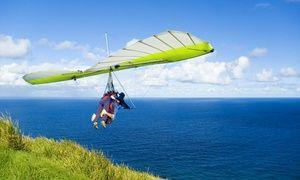 Vuelo en una ala delta biplaza motorizada pilotada por un instructor