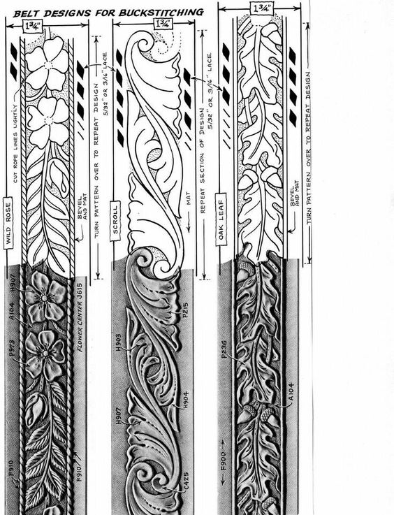 pin by l leather on leather tracing patterns traditional