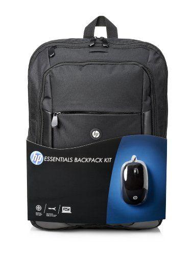 """nice HP Essentials Kit - Mochila para ordenador portátil (16"""", incluye ratón), negro"""