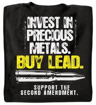 Invest in Precious Metals T-Shirt (Black)