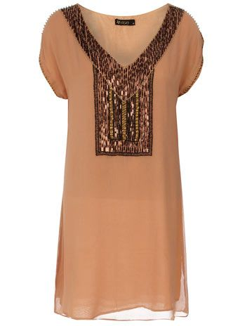 i imagine wearing this with a black flat, i dunno why. Ethnic embellished dress