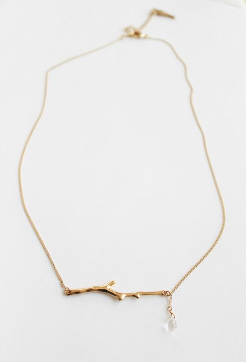 Clad & Cloth Twig necklace