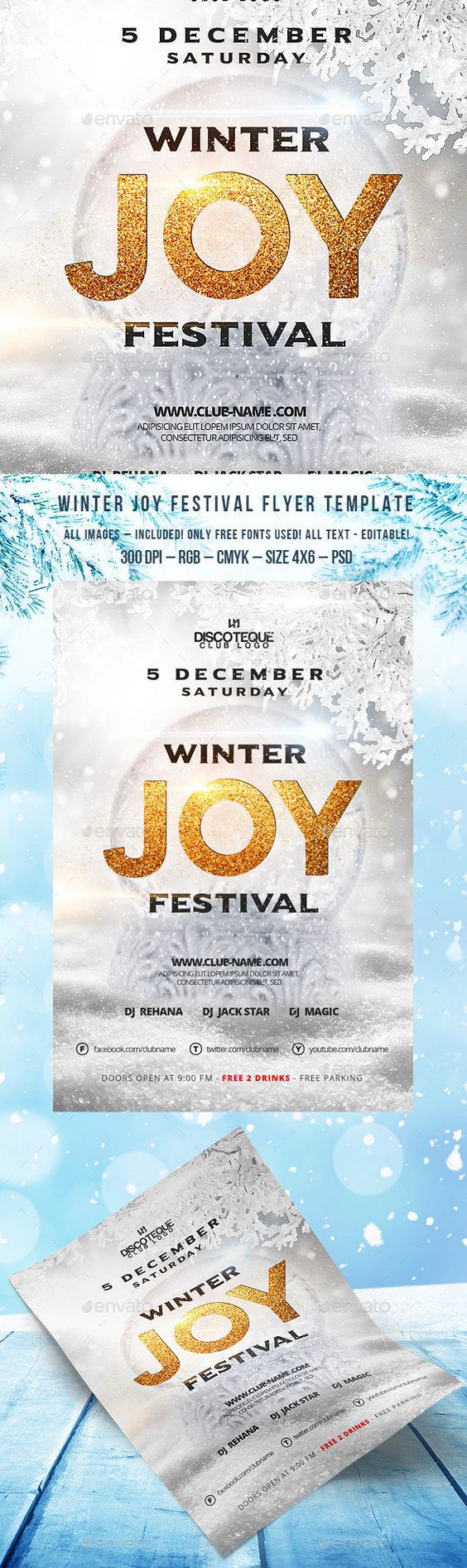 winter flyer flyer template design and ice winter flyer template psd design graphicriver net