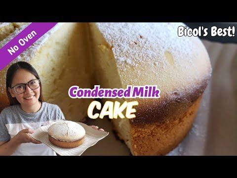 No Oven Condensed Milk Cake Strawberry Gery Youtube Milk Cake Strawberry Recipes Condensed Milk Cake