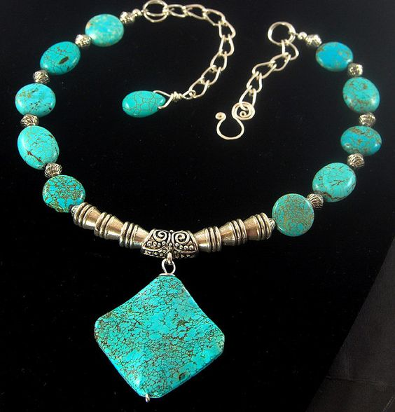 https://flic.kr/p/736DhN | Turquoise Majesty Necklace
