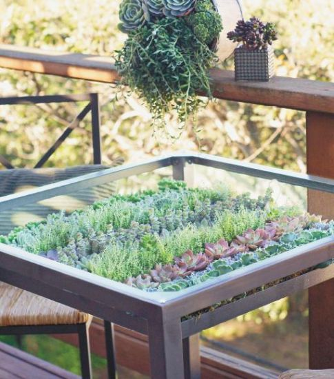 Ikea Hack How To Make This Diy Living Succulent Table