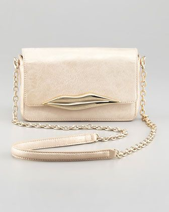 Diane von Furstenberg Flirty Metallic Mini Crossbody Bag, Champagne - Bergdorf Goodman