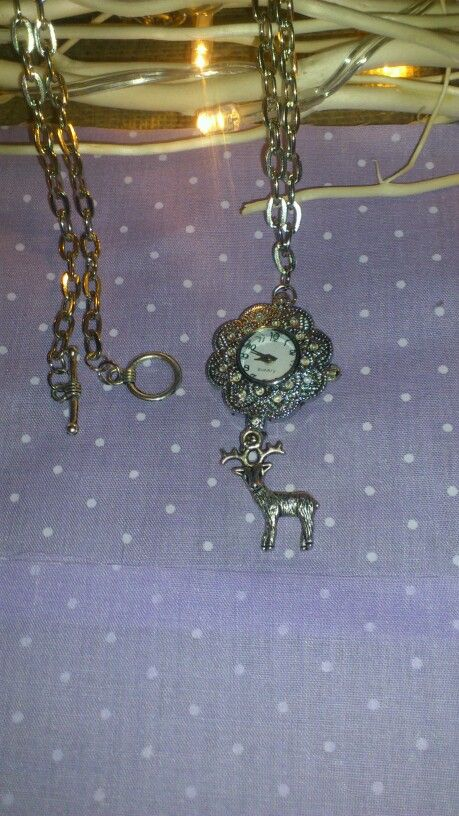 Watch face necklace