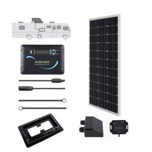 Renogy 100 Watt 12 Volt Off Grid Solar System For Solar Rv Kit Kitrv100dadv30 The Home Depot Solar Energy Solar Technology Best Solar Panels