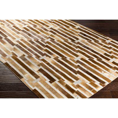 Trent Austin Design Arvon Hand-Crafted Brown Area Rug Rug Size: