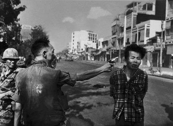 'Saigon Execution.' Brig. Gen. Nguyen Ngoc Loan, chief of the South Vietnamese national police, executes a captured Viet Cong officer on Feb. 1, 1968. The photo, by Eddie Adams of the AP, won the 1969 Pulitzer Prize for spot news photography