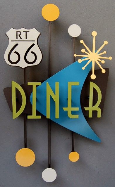 Diners, Retro and Signs on Pinterest
