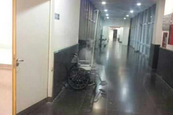 Ghost in a wheelchair