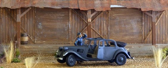 Tamiya 1/35 scale Citroën Traction Cabriolet - FineScale Modeler - Essential magazine for scale model builders, model kit reviews, how-to scale modeling, and scale modeling products