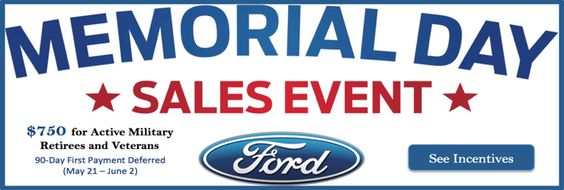 ford memorial day car sales
