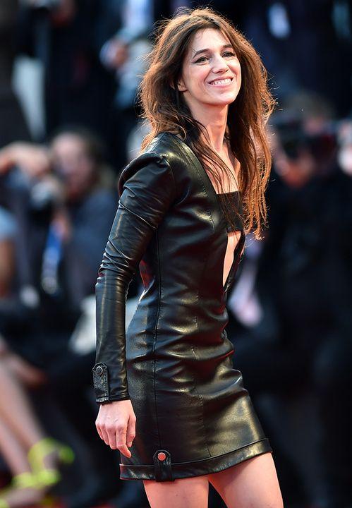 """Charlotte Gainsbourg en robe Anthony Vaccarello à la première du film """"Nymphomaniac: Volume 2 - Directors Cut"""" au 71ème Festival de Venise en septembre 2014"""