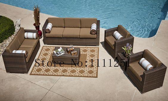 O Taryn coleção 6 Piece All Weather Wicker profunda estar Patio Furniture Set em Sofas de jardim de Móveis no AliExpress.com | Alibaba Group