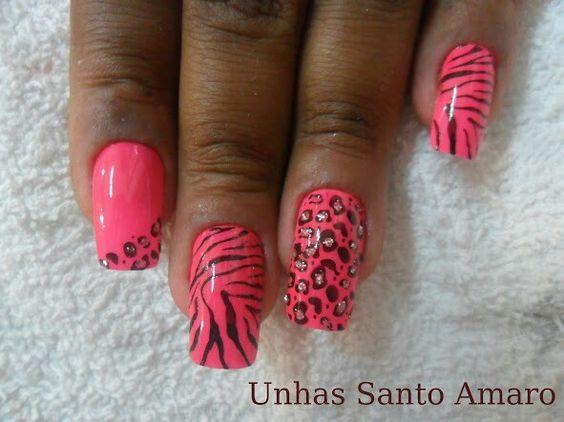 Zebra, onça e rosa pink...Tudo junto, misturado e lindo!!!