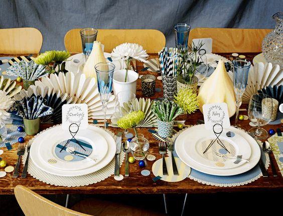colorful tablescape from BHLDN