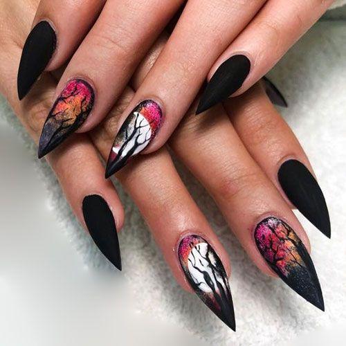 Best Stiletto Nails In 2020 Black Halloween Nails Halloween Nail Designs Stiletto Nails Designs