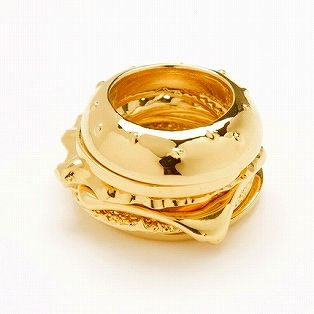 BURGER RING YELLOWGOLD #6 - If anyone wants to propose and get a definite yes, then just present me with this ring.
