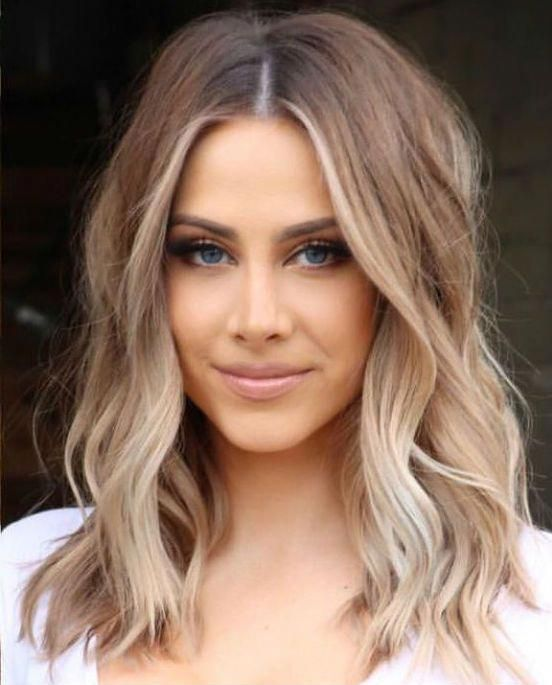 Glorious Mid Length Celebrity Hairstyles 2019 To Consider This Year Fallhaircolor Shoulder Length Hair Balayage Hair Styles Hair Lengths