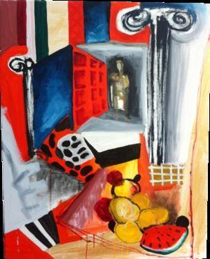 "Saatchi Online Artist Miguel Cabeza; Painting, ""Christopher Columbus (Big Crunch)"" #art"
