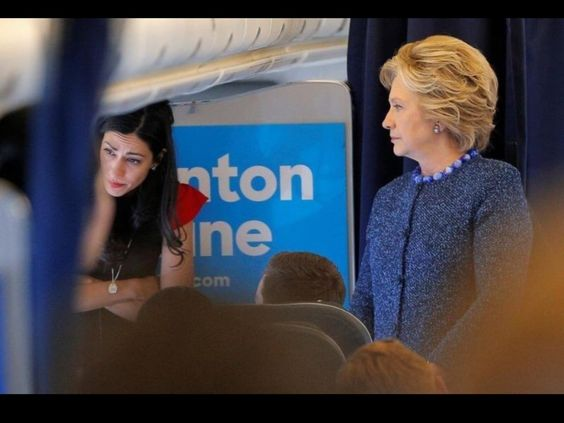 Original Team Trump™ @jpm05880 23h23 hours ago  Photo of Huma crying as Hillary glares at her as news of the FBI re-investigation broke. The most powerful pic of this election!