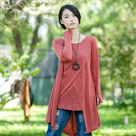 Casual Long Sleeved T-shirt Blouse Tops for Autumn by deboy2000