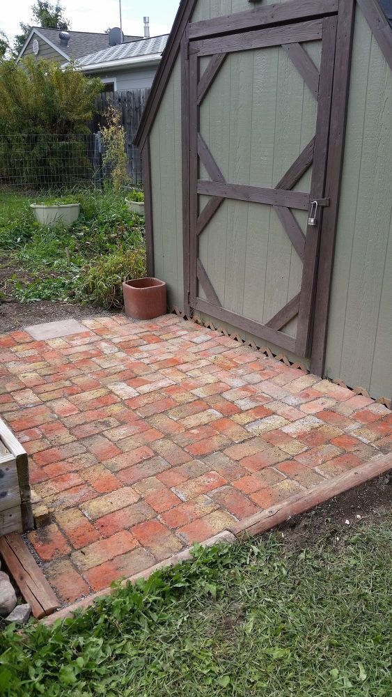 How To Add Brick Pavers To The Garden Area Diy Brick Patios