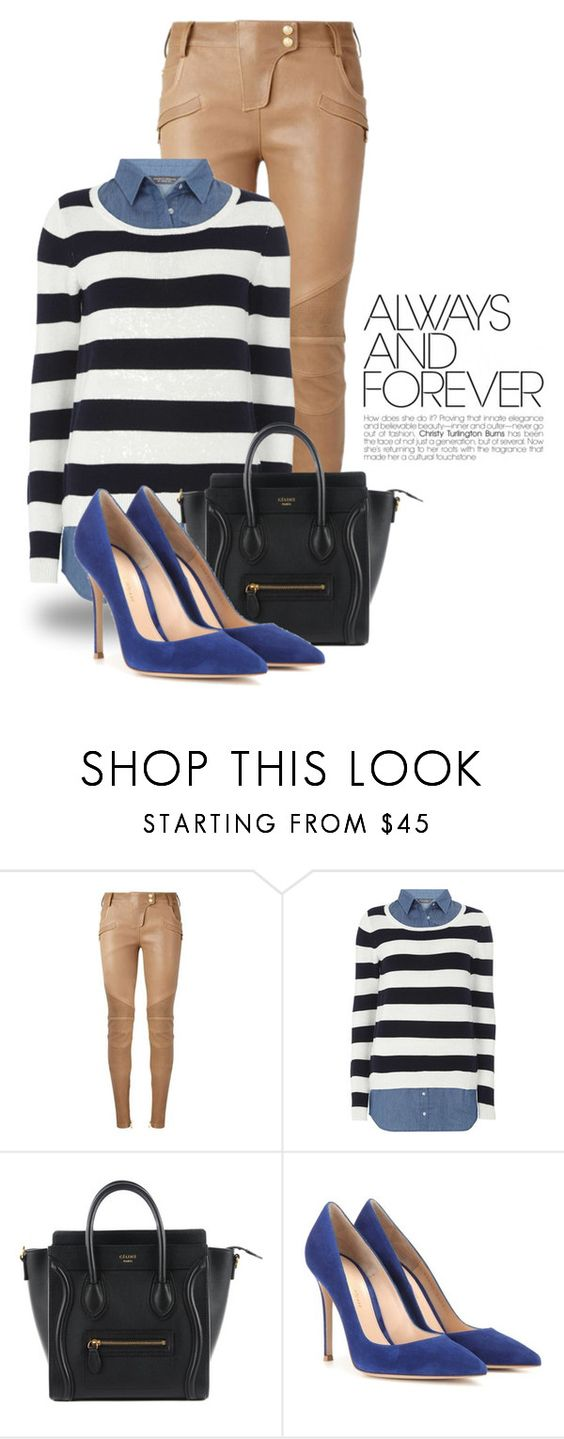 """Mar 22nd (tfp) 1218"" by boxthoughts ❤ liked on Polyvore featuring Balmain, Dorothy Perkins, Gianvito Rossi and tfp"