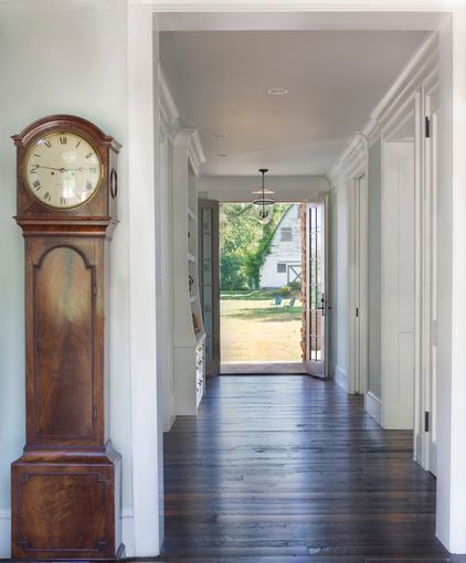FOYER – great example of an impressive way to welcome guests. Farmhouse hall by Donald Lococo Architects.
