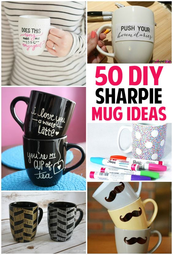 Check out this list of 50 sharpie mug ideas, http://www.coolcrafts.com/sharpie-mug-ideas/: