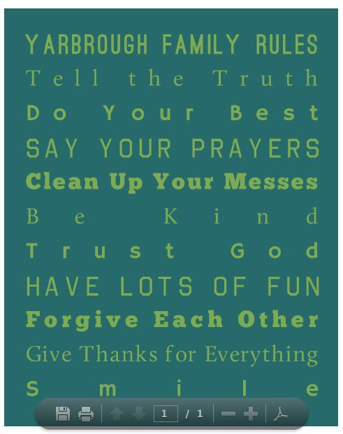 Customize your own Family Rules Artwork!