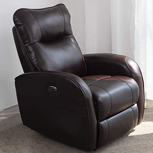The Dmf Electric Recliner Chair W Breath Leather Modern Power Single Sofa Home Theater Recliner Seating W Usb Port Brown Online Shopping In 2020 Sofa Home Single Sofa Living Room Entertainment Center