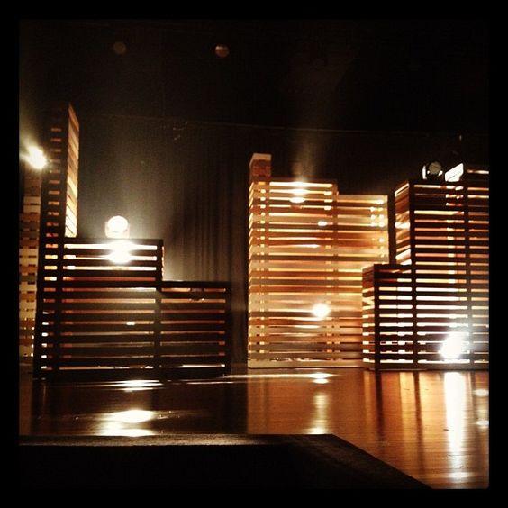 Pallets Wood Slats And Pallet Light On Pinterest