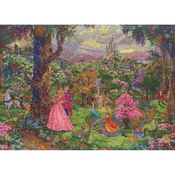 M C G Textiles Disney Dreams Counted Cross Stitch Kit Sleeping Beauty