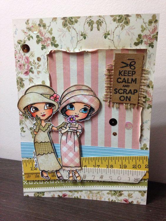 Cartão Mari Digis stamps: