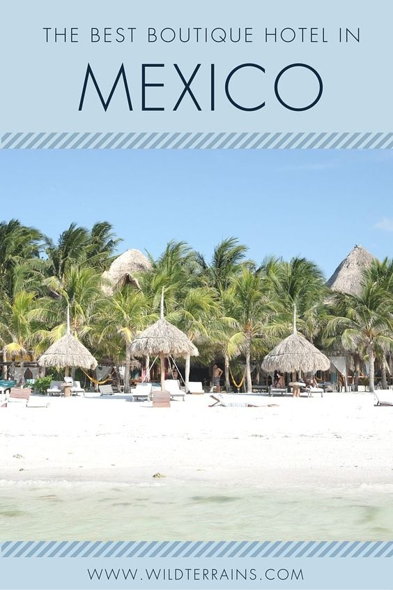 The best boutique hotel in Mexico is located in Isla Holbox. Read more about this design hotel on wildterrains.com