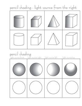 pencil shading worksheets pencil shading activity arts and crafts. Black Bedroom Furniture Sets. Home Design Ideas