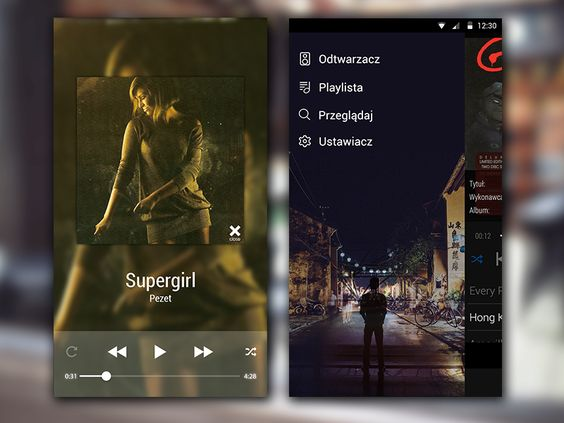 VLC App Screen Music Video Player