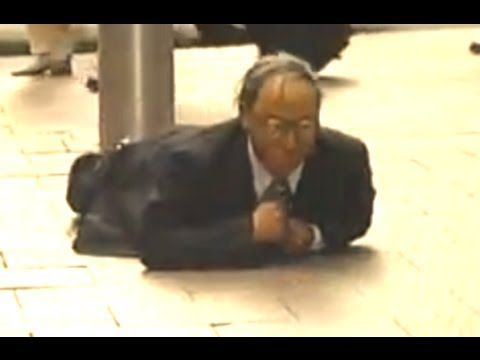 A performance artist from Japan has built a weird crawling robot that looks like an elderly businessman. Don't forget to SUBSCRIBE for more awesome vids: htt...