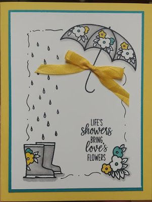 Stampthelove Under My Umbrella Stamp And Punch Bundle Umbrella Cards Happy Birthday Cards Printable Stamping Up Cards