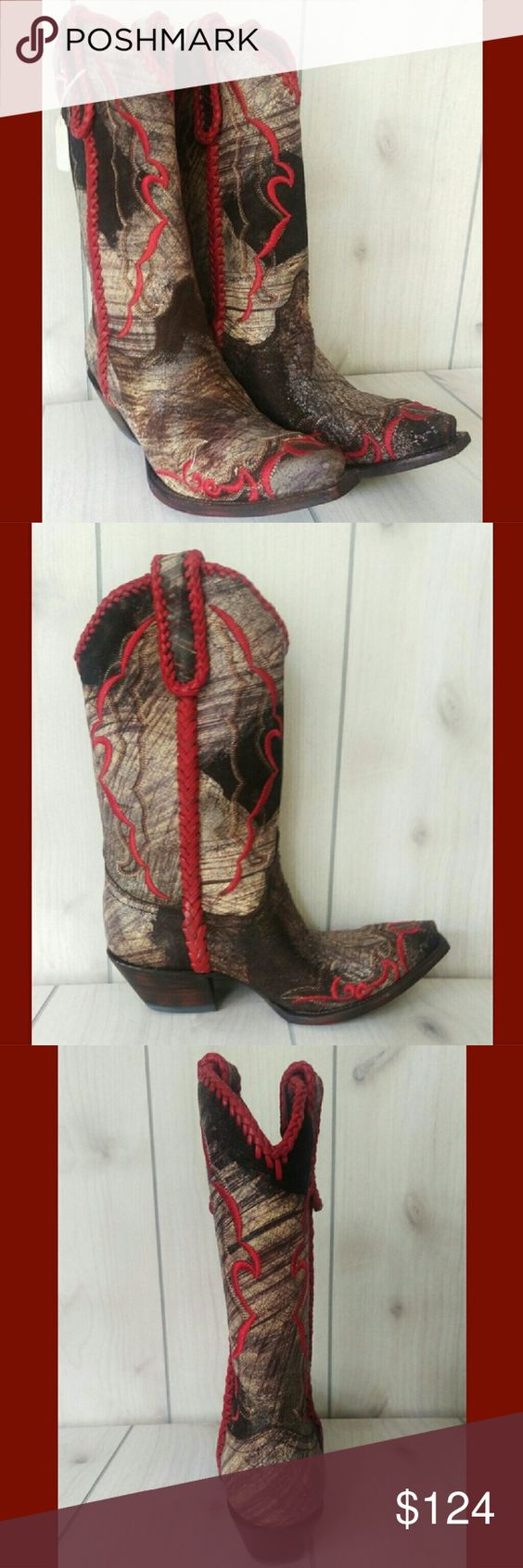 cowgirl boots charlie 1 horse cafe brushed calf nwt