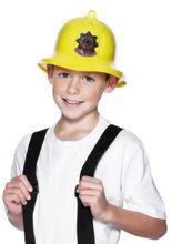 Feuerwehrmann-Helm für Kinder gelb aus der Kategorie Karnevalskostüme Kinder. Mit diesem Feuerwehrhelm für Kinder verwandelt sich Ihr Kleiner in einen waschechten Feuerwehrmann!